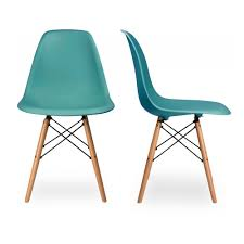 charles eames set of two dsw charles ray eames chairs replica teal