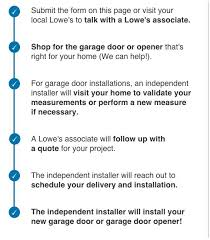 garage door installGarage Door  Garage Door Opener Installation  Lowes