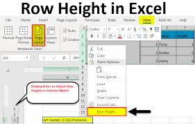row height in excel 4 diffe ways