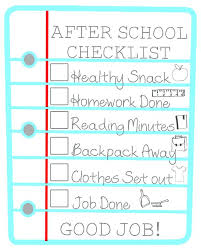 Printable Daily To Do List Template Via Kids After School Checklist ...