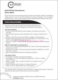 Senior Internal Auditor Required By Gulf Drilling International