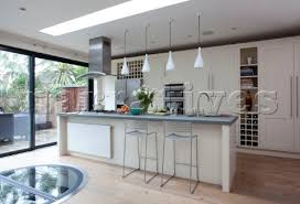 pendant lighting for bars. Breakfast Bar Lighting. White Fitted Kitchen Extension With Pendant Lights Hanging Above In Lighting For Bars Y