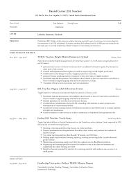 Modern Resume For Instructors Esl Teacher Resume Sample Writing Guide Resumeviking Com