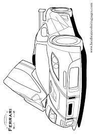 Free Printable Ferrari Coloring Pages For