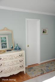 Sherwin Williams Sea Salt And Rainwashed   Rainwashed Master Bedroom  Makeover With Painted Dresser.
