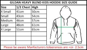 Gildan G500 Youth Size Chart Www Bedowntowndaytona Com