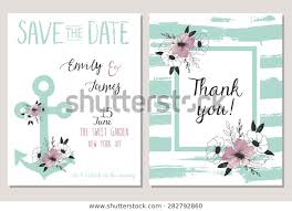 Save The Date Cards Template 2 Save Date Cards Template Collection Stock Vector Royalty