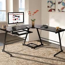 l shape computer desk pc glass laptop table workstation corner home office desks sky2258lrg home corner