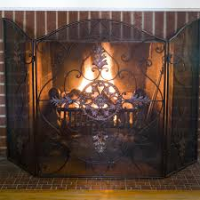 Hand  Cut Beveled Glass Fireplace Screen  138643 Fireplaces At Small Fireplace Screens