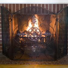 pea fireplace screen fireplace hanging screens fireplace spark guard