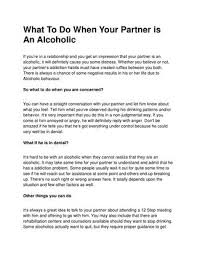 Alcoholic Behavior Patterns Relationships Awesome What To Do When Your Partner Is An Alcoholic By
