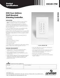 Leviton Device Color Chart Leviton Hxc4d 1tw Users Manual
