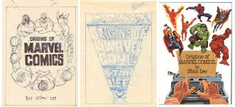 marie severin s rough designs for the cover of the flagship origins of marvel ics right tome note the inclusion of writer stan lee in the designs