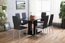 High Gloss Dining Table Black Imperia High Gloss Dining Table Set Furniturebox