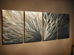 abstract metal wall art. Abstract Metal Wall Art- Radiance Gold Silver -Contemporary Modern Decor - Thumbnail 3 Art R