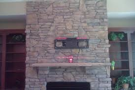 stone fireplace tv mount