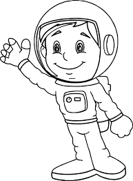 Small Picture Astronaut Boy Coloring Page Wecoloringpage