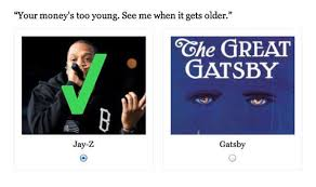 The Great Gatsby Dream Quotes Best of Gangster Gatsby Quizzes Jay Z Or Great Gatsby