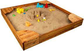 Amazon.com: KidKraft Wooden Backyard Sandbox with Built-in Corner Seating  and Mesh Cover, Kid's Outdoor Furniture, Honey, Gift for Ages 2-8 :  Everything Else