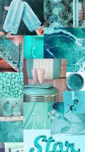 Aesthetic Background Collage Blue ...