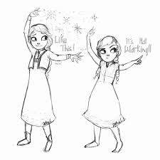 Frozen Anna And Elsa Drawing At Getdrawings Com Auto Electrical