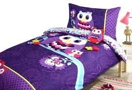 owl toddler bedding set sets for kids purple and aqua