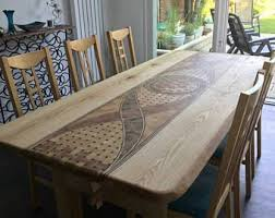 Unique <b>massive</b> live edge rustic oak <b>dining table</b> top   <b>Dining table</b> ...