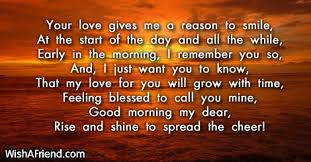 Good Morning Love Quotes For Her Impressive Good Morning Poems For Her