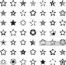 60点の星のイラスト素材クリップアート素材マンガ素材アイコン素材