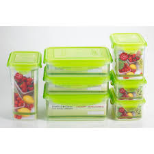Food Storage Times Kinetic Go Green Fresh 14 Piece Rectangular Food Storage Container