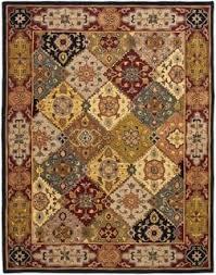 carpet 15 x 15. safavieh handmade heritage traditional bakhtiari multi/ red wool rug (11\u0027 x 15\u0027 carpet 15