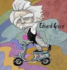 Resultado de imagen de EDvard Grieg caricatura