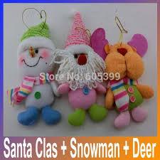 Us 942 35 Offchristbaumschmuck Weihnachtsmann Schneemann Deer Rag Doll Spielzeug Enfeites De Natal Dekoration Weihnachten Anhänger Tropfen