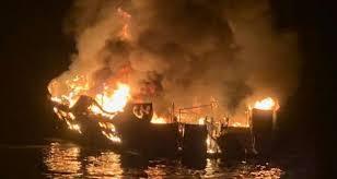 still missing after boat fire off