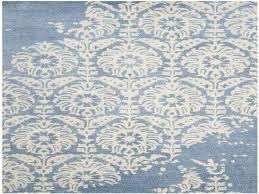 braemar hand tufted light blue ivory area rug blue damask rug