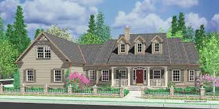 house front color elevation view for 10088 colonial house plans dormers bonus room over garage single