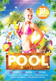 pool party flyer template blank. Fine Template Pool Party Flyer Template With Blank P