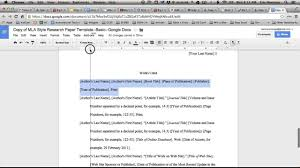 Adjusting Tab Stops In Google Docs For Mla Works Cited Pages