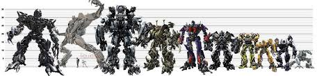 Transformers G1 Scale Chart Bayformers Scale Chart Transformers Movie Extinction
