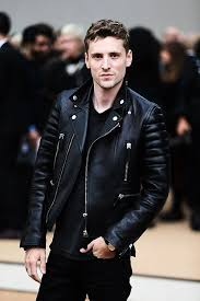 moto leather jacket mens. george barnett attends the burberry prorsum show at london fashion week spring/summer 2014 at. mens biker jacketriders jacketblack leather moto jacket