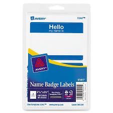 Avery Adhesive Name Badge Labels The Office Point