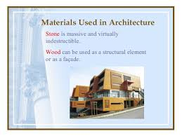 Materials Used in Architecture .