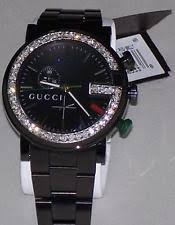men s diamond gucci watches new men s 101m gucci chrono 1 92ct aprx custom set real diamond watch ya101331