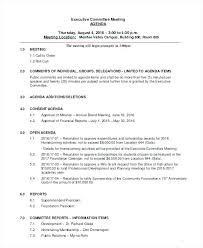 Sample Agendas For Board Meetings First Board Meeting Agenda Template Weekly Sample In Word Examples