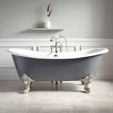 Lena Cast Iron Clawfoot Tub Monarch Imperial Feet Dark - Clawfoot tub bathroom
