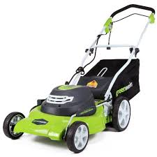 the green works greenworks 25022 12 amp corded 20 inch lawn mower review transform