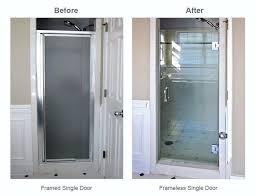 replacing shower door single shower door replacement for walk in shower replacing shower doors with curtain