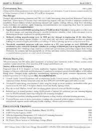 Cover Letter Manufacturing Resume Samples Food Manufacturing