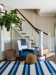 coastal area rugs with beach style entry and fig tree beach house kate jackson design foyer stair tread rugs
