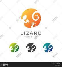 Lizard Logo Design Circle Lizard Icon Vector Photo Free Trial Bigstock